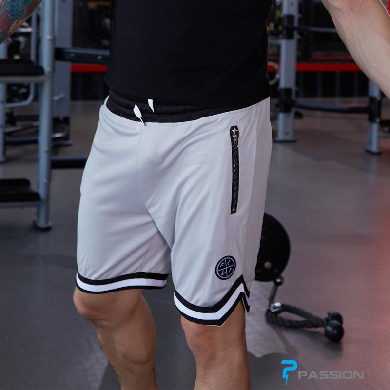 Quần short tập gym nam LVFT Z76 (màu trắng)