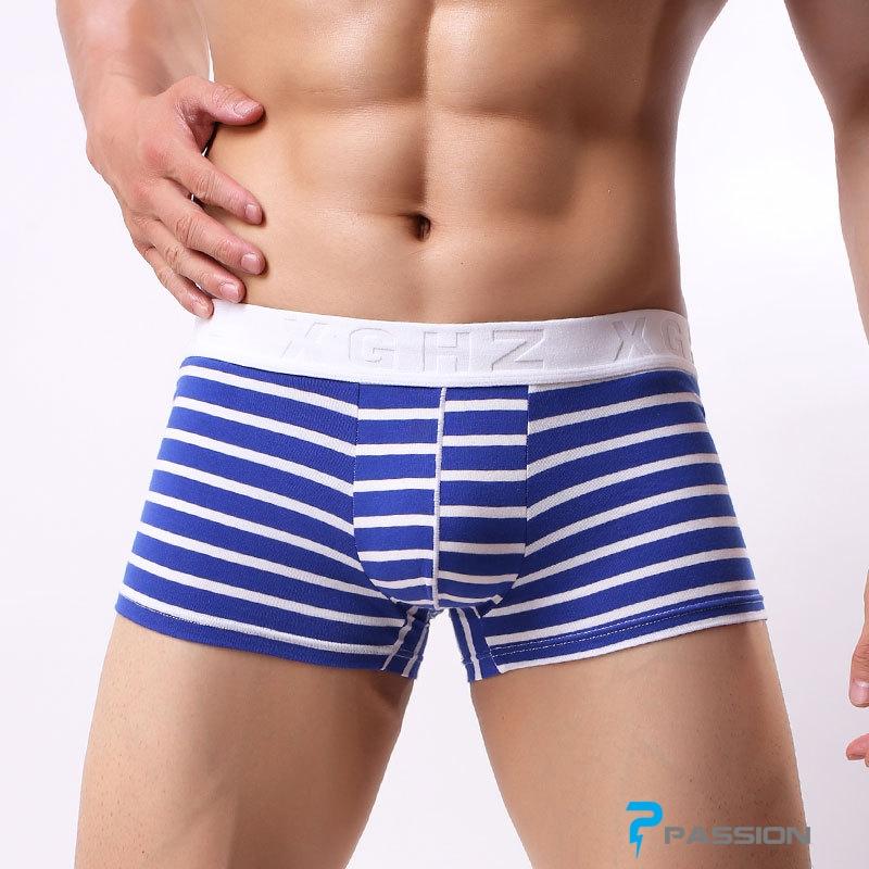 Quần lót nam boxer đẹp giá rẻ QL215 (xanh sọc trắng)