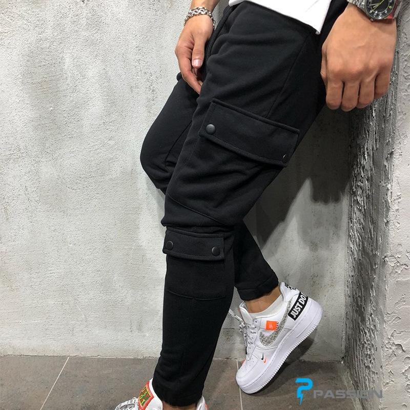 Quần dài tập gym nam túi hộp Z312 (màu đen)