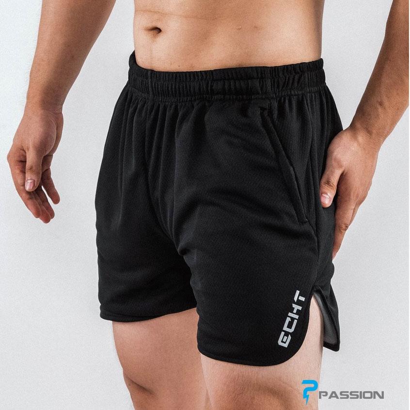 Quần tập gym nam xẻ ống ECHT  Z34 (màu đen)