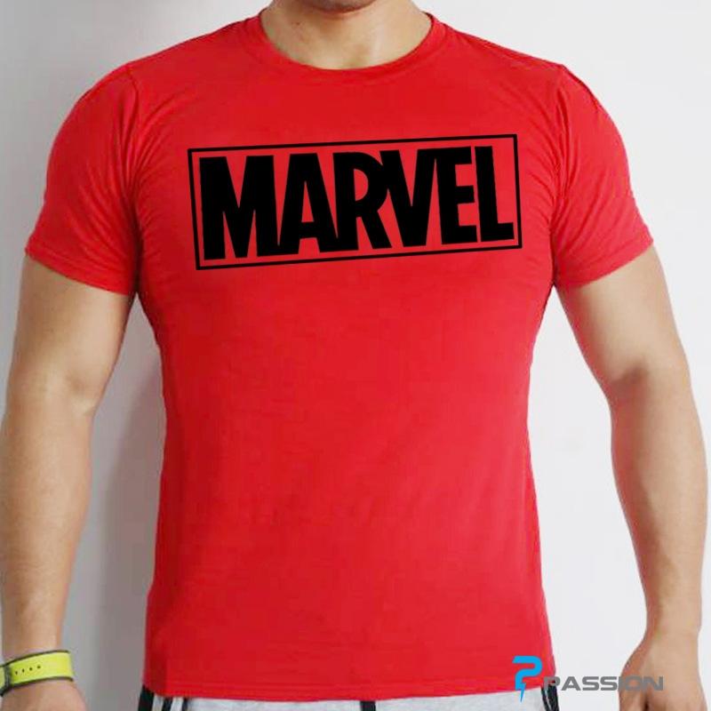 Áo body tập gym nam Marvel cao cấp A106 màu đỏ