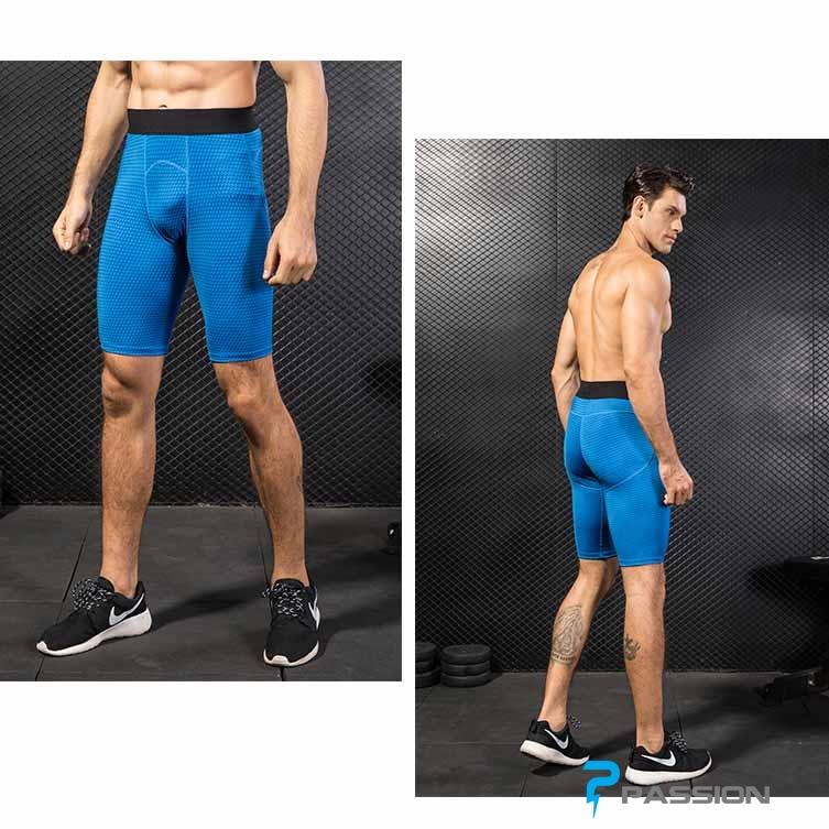 Quần legging ngắn tập gym nam cao cấp Z83 (màu xanh dương)