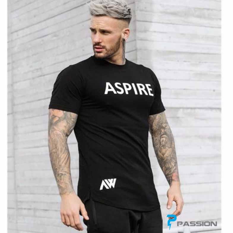Áo body tập gym nam Aspire A323 màu đen