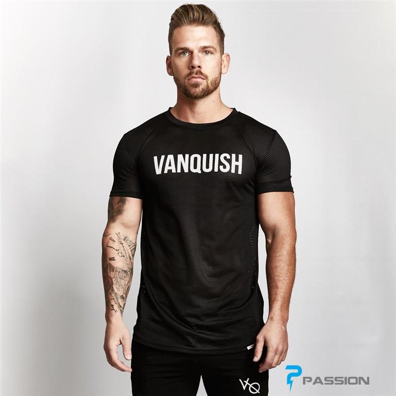 Áo thun tập gym nam Vanquish A330 màu đen