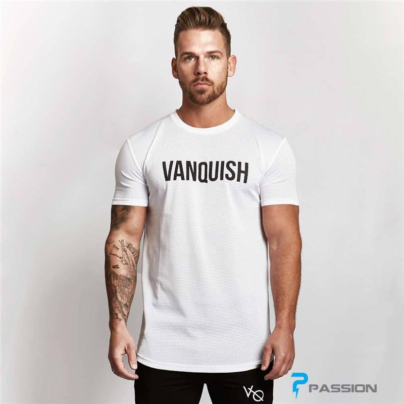 Áo thun tập gym nam Vanquish A330 màu trắng
