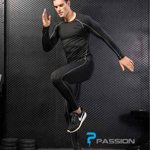 Combo bộ quần áo legging tập gym nam CB05 đen