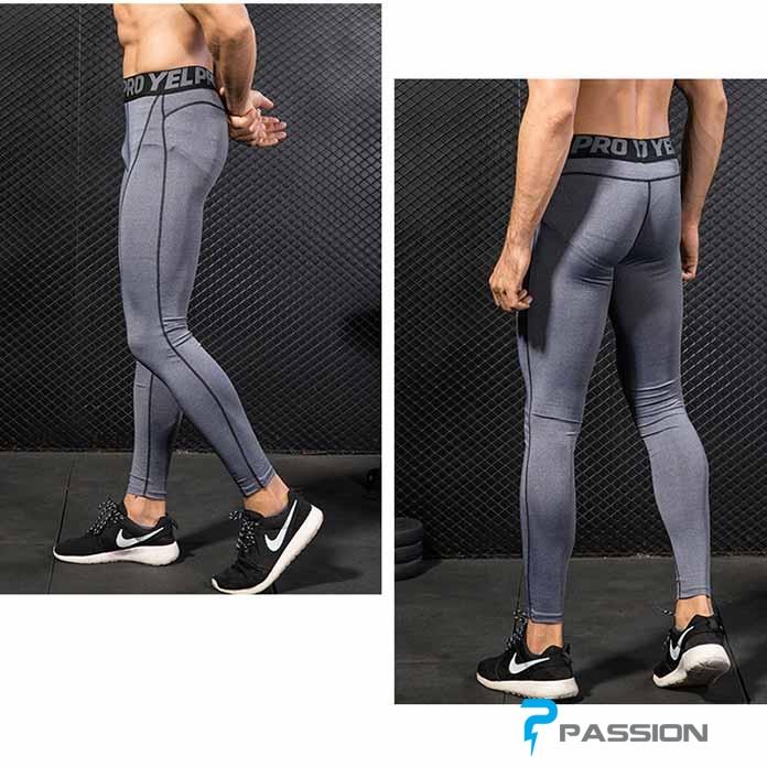 Quần legging nam tập gym Z111 xám