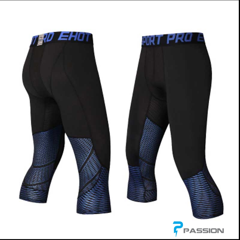 Quần legging nam 3/4 Z138 sọc xanh