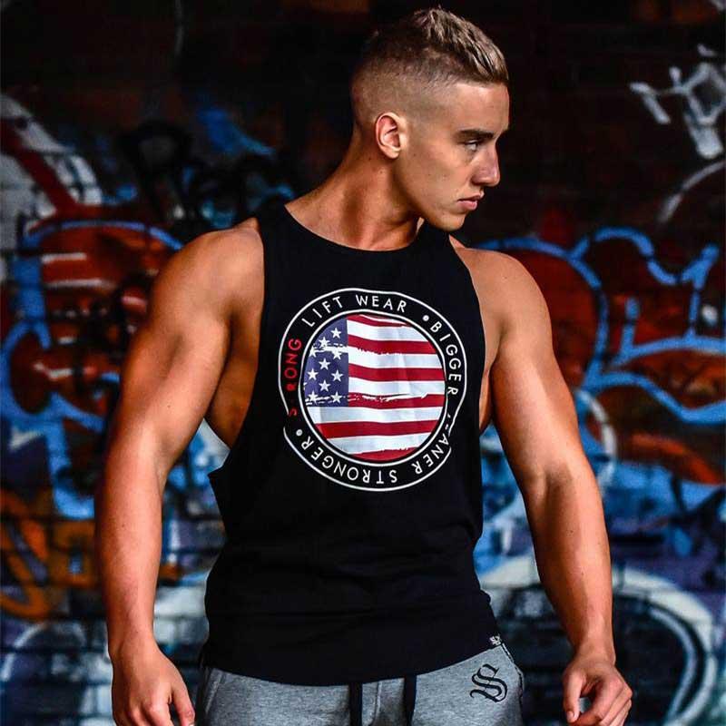 Áo tập gym tanktop strong lift wear A336 (màu đen)