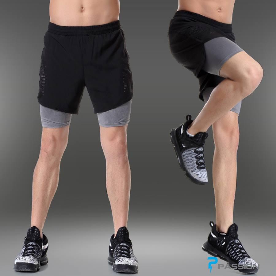 Quần đùi kết hợp legging Z81 đen xám