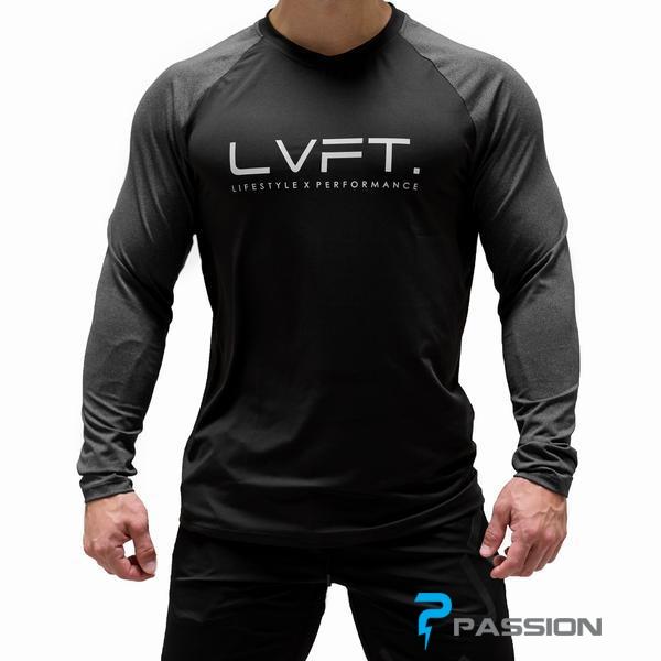 Áo body tập gym nam tay dài LVFT A319 (đen)