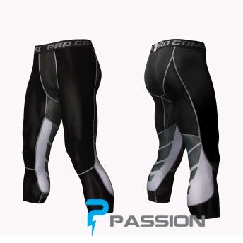 Quần legging nam tập gym 3/4 Z127