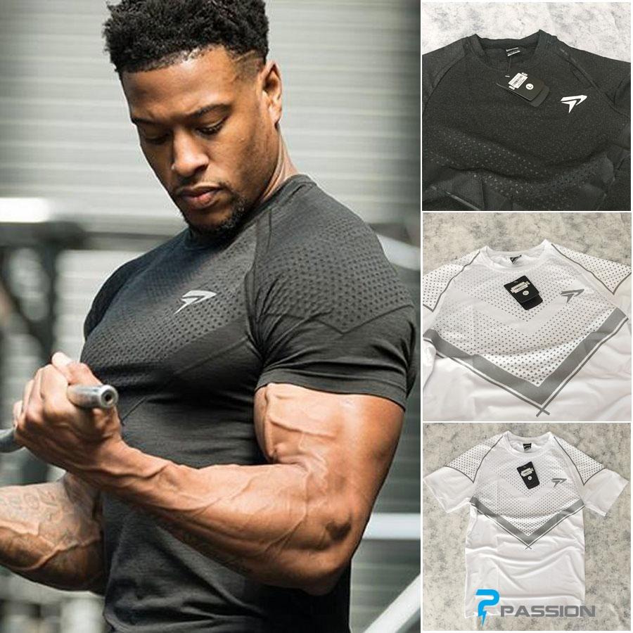 Áo body tập gym Physiq A342 (đen và trắng)