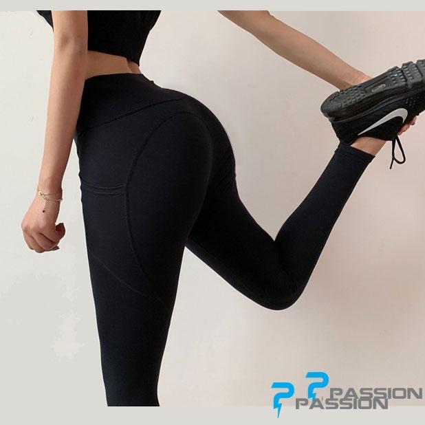 Quần tập gym nữ cao cấp G100 (màu đen)