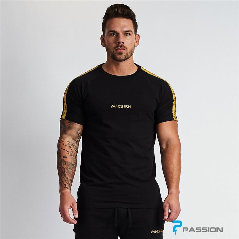 Áo tập gyn nam Tshirt Vanquish A358 (màu đen)