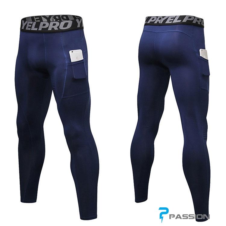 Quần legging tập gym nam có túi Z152 xanh đen