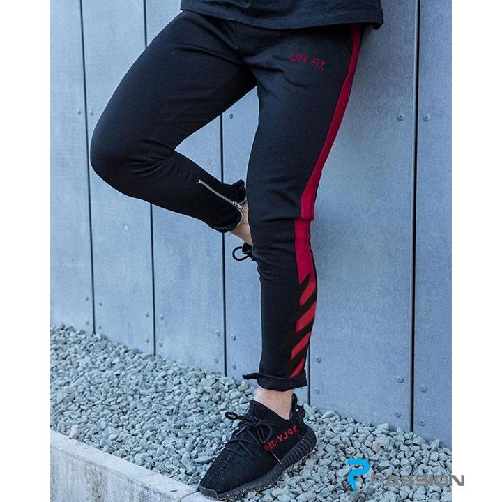 Quần tập gym nam LVFT Z125 đen đỏ