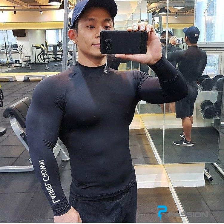 Áo body tập gym nam dài tay Laurel Crow A373